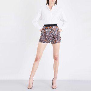 NWOT Maje floral paisley jacquard wrap overlay shorts
